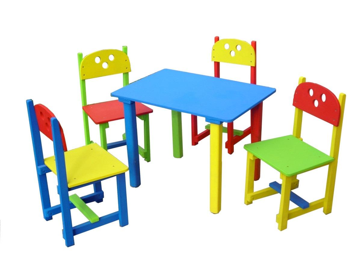 Mesa y sillas para ni os 330 00 en mercadolibre pictures for Sillas infantiles