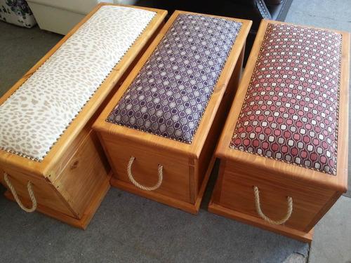 Baul botinera mueble madera maciza decoraci n con garant a for Decoracion hogar uruguay