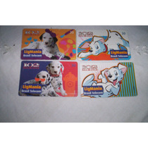 Tarjetas De Brasil.serie 100 Dalmatas..usadas....