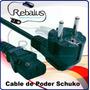 Cable De Poder Schuko Para Computadoras Y Monitores. Barato