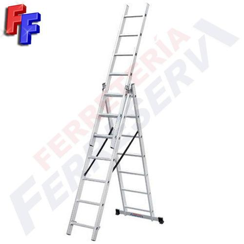 Escalera aluminio pintor extensible colisa 3 tramo 6esc 3 for Escalera aluminio telescopica extensible