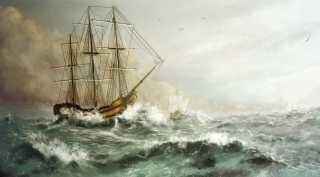 Resultado de imagen de veleros surcando mares con tormenta