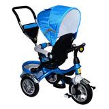 Triciclo Para Bebe Asiento 360  Con Capota Y Guia - Elme