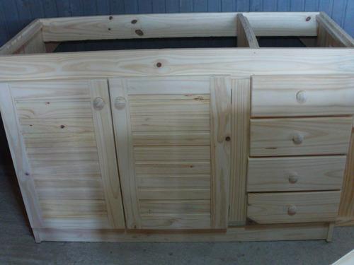 bajo mesada de 150 a 180 de madera maciza 3700 srjwt