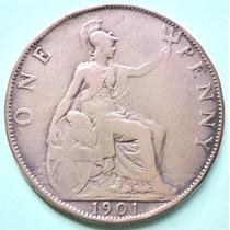 Osl Inglaterra Moneda 1 Penny Victoria 1901