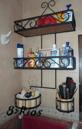 Repisa P baño De Hierro Artesanal Para Toda La Vida Ref.128 dd67b6656053