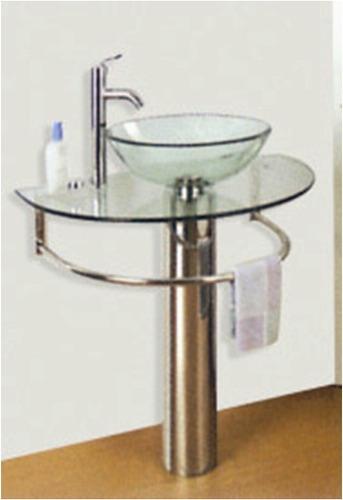 Mueble de cristal cromado para el ba o muebles de ba o a for Muebles para bano uruguay