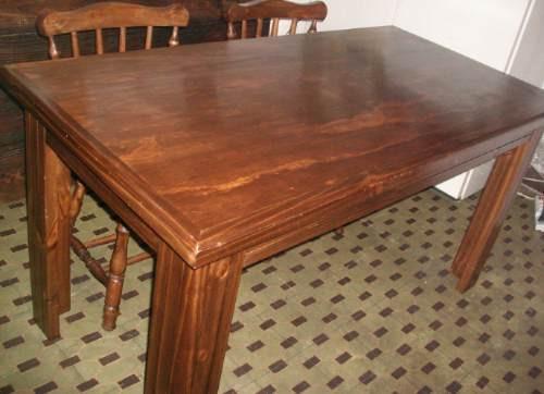 Mesa comedor rustica madera maciza rectangular 5800 suaar for Mesas rusticas de madera maciza