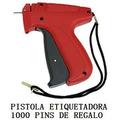 Pistola Etiquetadora Aguja Pins Fino O Gruesos Con 1000 Pins