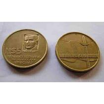 Moneda N$5 Pesos De Artigas Sesquicentenario-1975