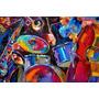 Musica Colorida - Bateria E Instrumentos - Lamina 45 X 30 Cm
