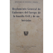Reglamento Uniformes Policia Peru 1951 Original Libro