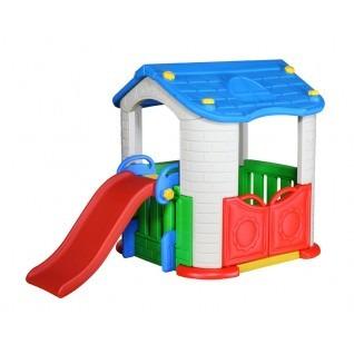Casita de jard n con tobog n casa bebesit imperdible for Casas de juguete para jardin baratas