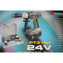 Taladro Powermaq A Bateria Con Percutor 24 V