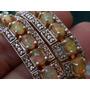 Espec! Pulsera Plata 925 Oro 20 Diamantes Legitim+ 28 Opalos