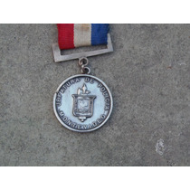 Medalla Policial Jefatura Montevideo Por Servicio Plata