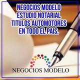 Escribano Publico, Estudio Notarial, Automotores, Escribania