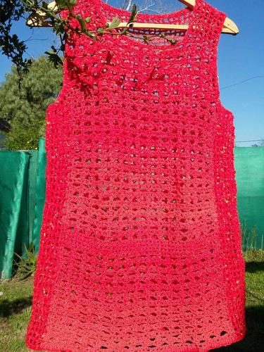 Chaleco Artesanal En Crochet ba64f7cdbc30