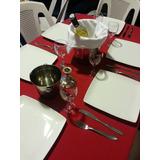 Alquiler De Mesas Sillas ,manteles,vasos,copas,platos