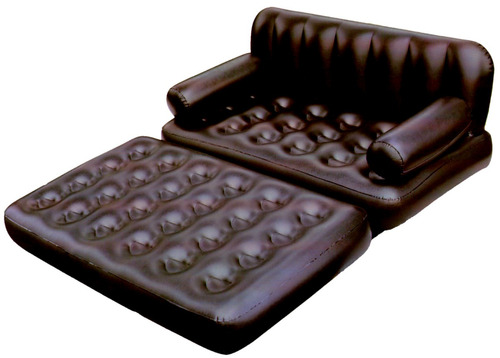 Sillon cama multifuncional inflable 2 plazas color negro for Sillon cama 2 plazas precios