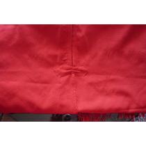 Poncho Rojo Argentino, Impecable, Sin Uso. Lana Telar.