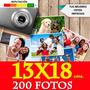Revelado Digital De Fotos 13x18 Cm X200unidades