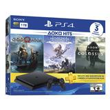 Playstation 4 Slim 1tb Hits Con Horizon - Gow - Soc Laaca