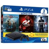 Playstation 4 Slim 1 Tb 3 Juegos Plus 3 Meses, Macrotec