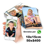 Impresión 50 Fotos 10x15 Revelado Digital