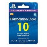 Psn Gift Card Playstation Store España Ps3 Ps4 10 Euros