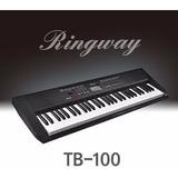 Teclado Organo Ringway Tb100 Sensibilidad C/adaptador