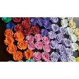 Flores En Goma Eva..rosas Y Otros Modelos.de Todos Los Color