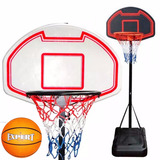 Tablero Basket C/ Base + Aro Metal + Pelota + Red - El Rey
