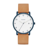 Reloj Skagen De Hombre Modelo Hagen Acero Inox Ionizado Azul