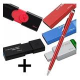 Pendrive 16 Gb Kingston Usb 2.0 3.0 3.1 Pc + Lapicera Tactil