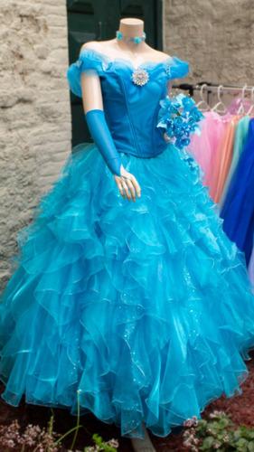 a92135886 Vestidos 15 Años Turquesa Corto