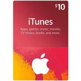 Tarjeta Digital Itunes 10 Usd (cuentas Eeuu)-mercadouy