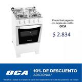Cocina Super Gas Punktal 4 Hornallas Blanca O Negra Sensacio