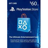 Tarjeta 60 Playstation Network Psn Usd 60 Giftcard Usa