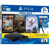 Playstation 4 Ps4 1tb, 3 Juegos, Fortnite, Ps Plus, Macrotec