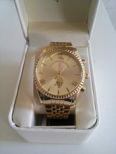 83faf4896e1e Reloj Polo Modelo Oro Hermoso De Dama Imp. Usa