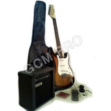 Super Combo Guitarra Eléctrica Fever + Amplificador + Funda