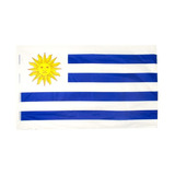 Bandera De Uruguay 150x90cm Poliéster 10x $66 C/u Disershop