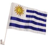 Bandera De Uruguay Para Auto Por Mayor - Minimo 50 Unidades