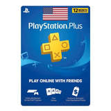 Playstation Plus 12 Meses Ps4 Y Ps3 Codigo Usa