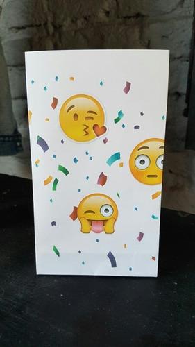 60c6c40e7 Bolsita Para Sorpresita Mesa Dulce Cumpleaños Regalo Emojis en venta ...