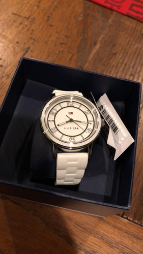 1638381728cf Reloj Tommy Hilfiger De Dama Malla Blanca