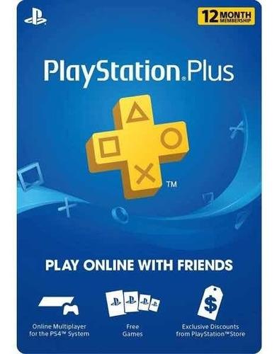 Ps Plus Play Station Plus 1 Año Código Usa Volvio La Promo!!