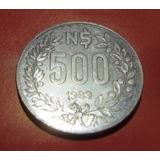 Monedas Uruguayas (2) - 500 Nuevos Pesos - Año 1989