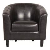 Sofa Butaca 1 Cuerpo Cuero Sintetico Calidad Pata Madera Hts
